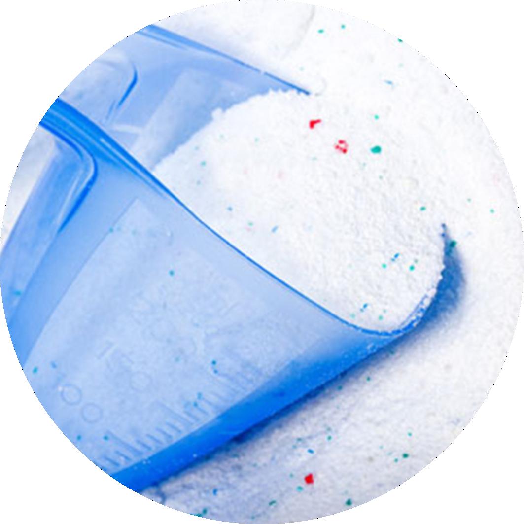 Sabão e detergentes em pó